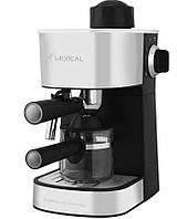 Кофемашина с капучинатором LEXICAL LEM-0601 800 Вт, кофеварка для дома, машина для заваривания кофе на 1 чашку