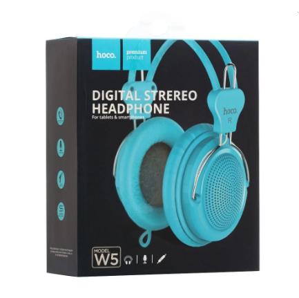 Дротові навушники з мікрофоном HOCO W5 Manno