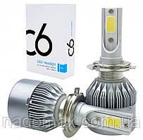 Комплект LED ламп для автомобиля автосвет C6 H4