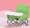 Складной тканевый стул стол для кормления baby seat Розовый, Зеленый, Серый, фото 4
