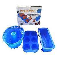 Силиконовые чудо кастрюли Miracle Pans, набор силиконовой посуды для выпечки, Киев, фото 1