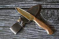 Нож охотничий Лесник, стильный режущий инструмент для охотников, рыбаков и туристов. Чехол в комплекте
