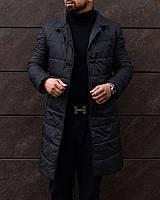 Пальто мужское Bund | Куртка мужская демисезонная утепленная до 0*С черная осенняя весенняя | плащ мужской