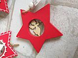 """Деревянная елочная игрушка """"Звезда"""", h-8 см., 25 грн, фото 3"""
