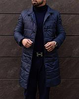 Пальто мужское Bund | Куртка мужская демисезонная утепленная до 0*С синяя осенняя весенняя | плащ мужской