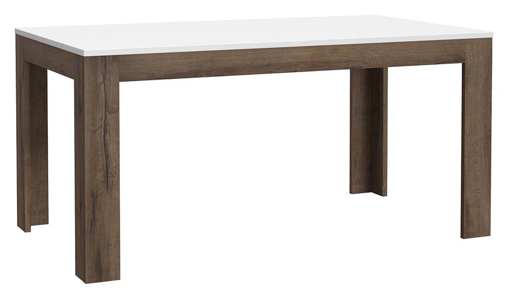 Стол обеденный деревянный XELT161-M156 WHITE SEA Forte дуб благородный/белый глянц