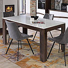 Стол обеденный деревянный XELT161-M156 WHITE SEA Forte дуб благородный/белый глянц, фото 3