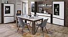 Стол обеденный деревянный XELT161-M156 WHITE SEA Forte дуб благородный/белый глянц, фото 6