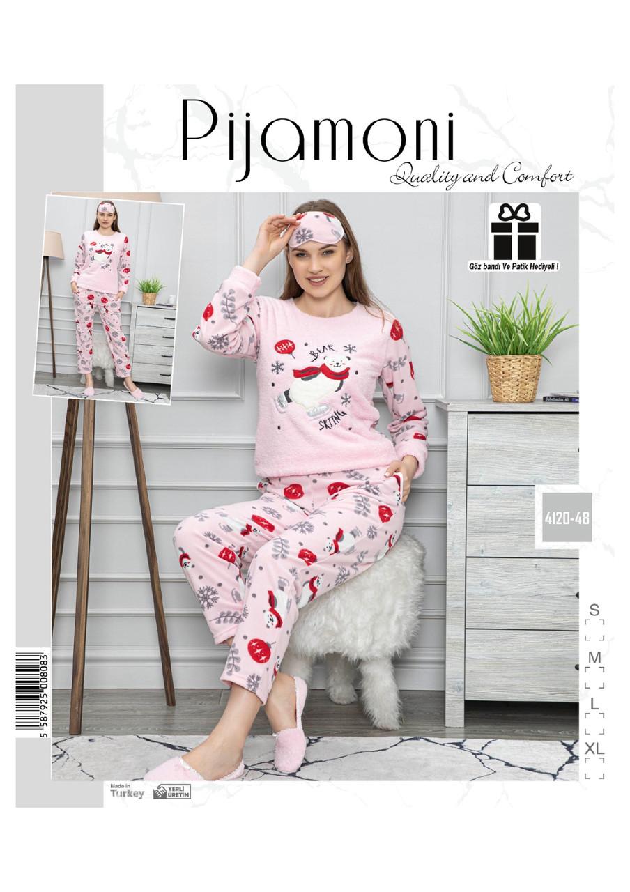 Женская  теплая пижама с повязкой For loved ones