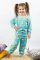 Пижамы махровые для девочек  разные цвета и рисунки, фото 1