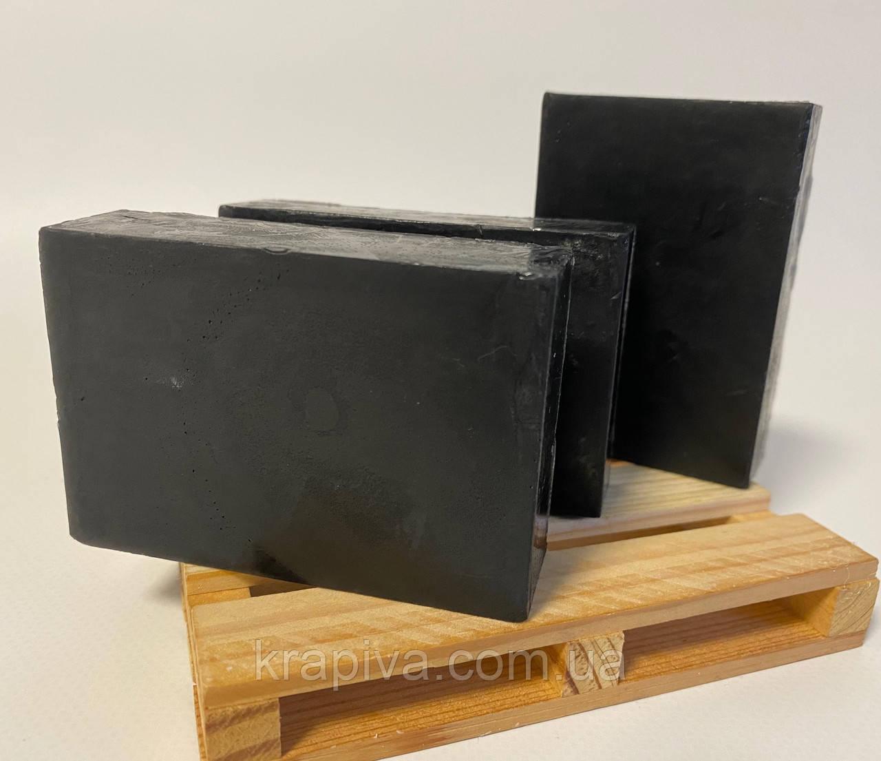 Натуральное мыло ручной работы Черный уголь и Розмарин 100, натуральне мило ручної роботи Чорне вугілля