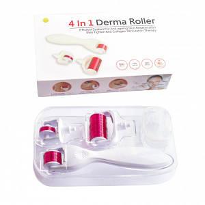 Мезороллер для лица и тела 3 в 1 дермороллер для обновления кожи + футляр (Длина игл 0,5 мм 1,0 мм 1,5 мм)