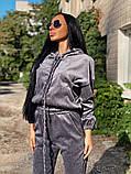 Вельветовый спортивный костюм батник штаны размер: с-м, м-л, фото 2