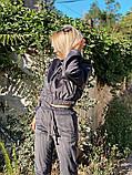 Вельветовый спортивный костюм батник штаны размер: с-м, м-л, фото 3