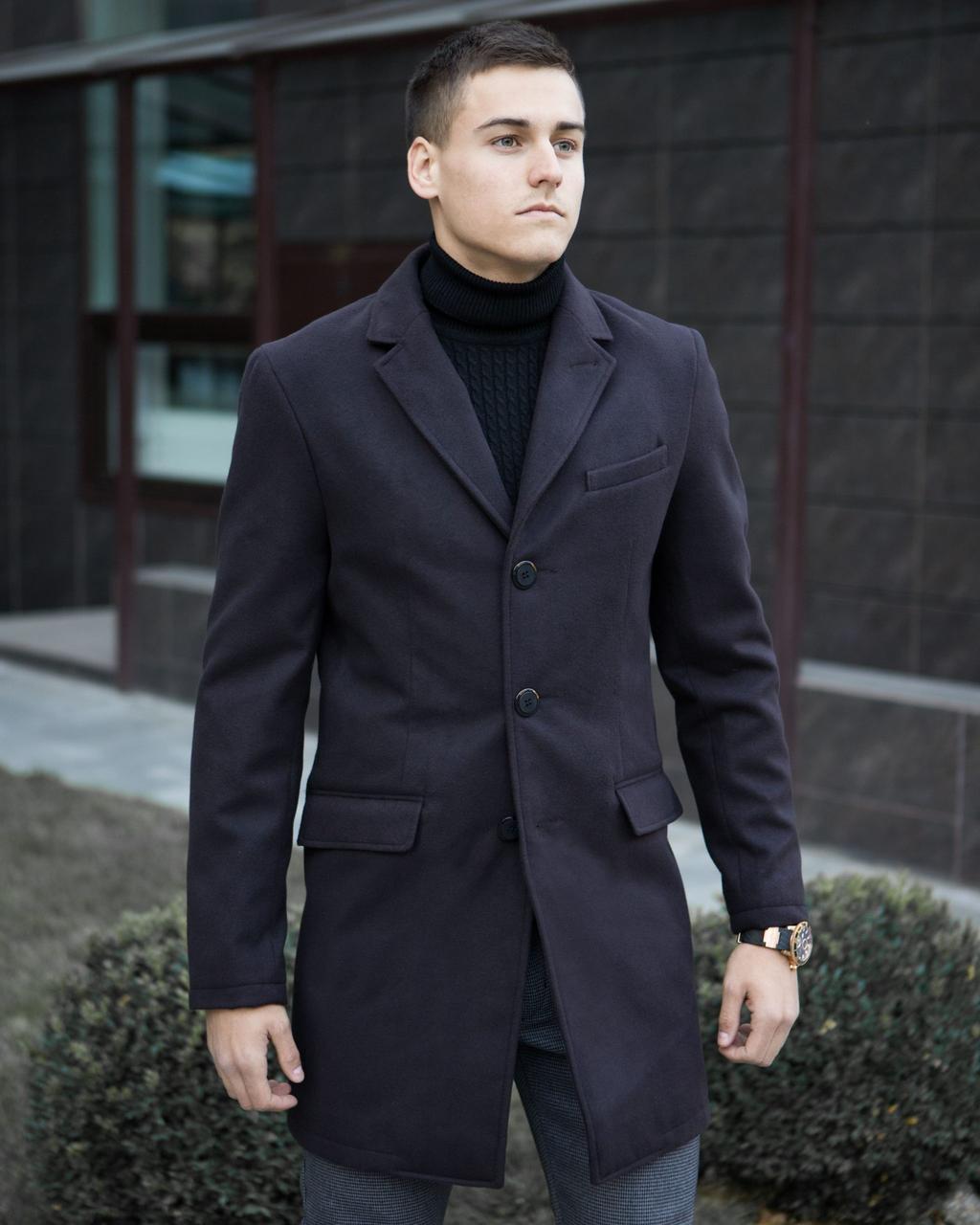 Пальто зимнее мужское BATYA (черное)