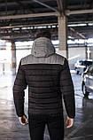 Куртка мужская зимняя 'Rise' (черная с серым), фото 2
