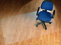 Ковер под кресло для защиты пола прозрачный 125х200см. Толщина 2,0мм