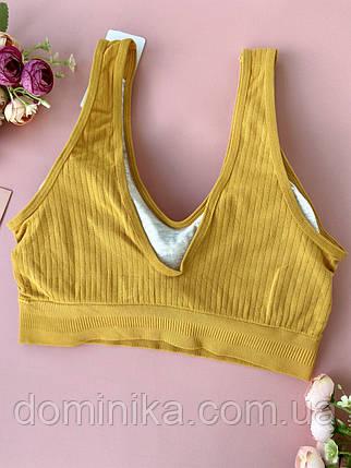 Бесшовный желтый женский топ без косточек, фото 2