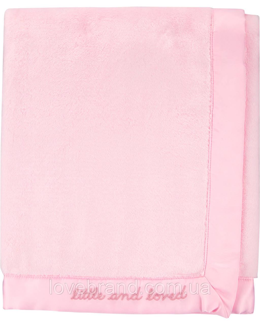 """Плед для новорожденной девочки Carter's розовый """"little and love"""", мягкое теплое одеялко плюшевое"""