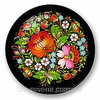 Тарелка петриковская роспись , диаметр 23 см., фото 1