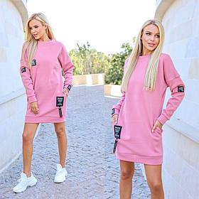 Теплое платье-туника 35-366