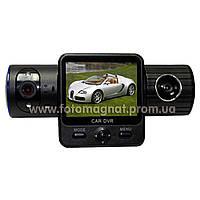 Автомобильный видеорегистратор DVR  Х 6000 GPS/2 камеры(хороший видеорегистратор автомобильный)