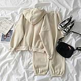 Теплый женский спортивный костюм с капюшоном 39-575, фото 2