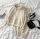 Теплый женский спортивный костюм с капюшоном 39-575, фото 3