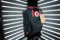 Рюкзак Канкен (черный с бордовыми ручками), фото 1