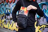 Сумка-месенджер Soulder Bag 'Hide' чорна, фото 3