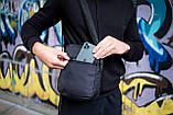 Сумка-месенджер Soulder Bag 'Hide' чорна, фото 5