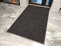 Грязезащитный ковер 100х120см на резиновой основе Рубчик-9 черный