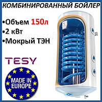 Бойлер 150 литров Tesy Bilight 2,0 кВт GCV9S 1504420 B11 TSRCP. Комбинированный накопительный водонагреватель