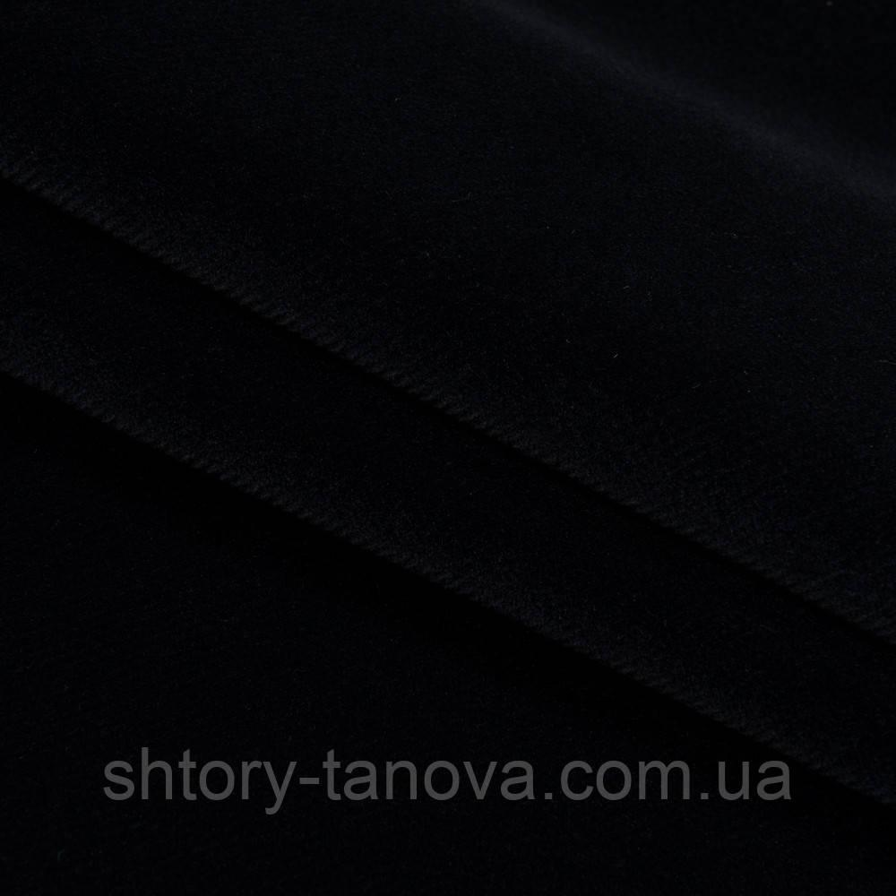 Велюр с огнеупорной пропиткой метро / metro черный сток