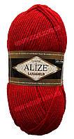 Пряжа LANAGOLD (Лана Голд) производитель Турция Alize (Ализе) цвет 56- красный