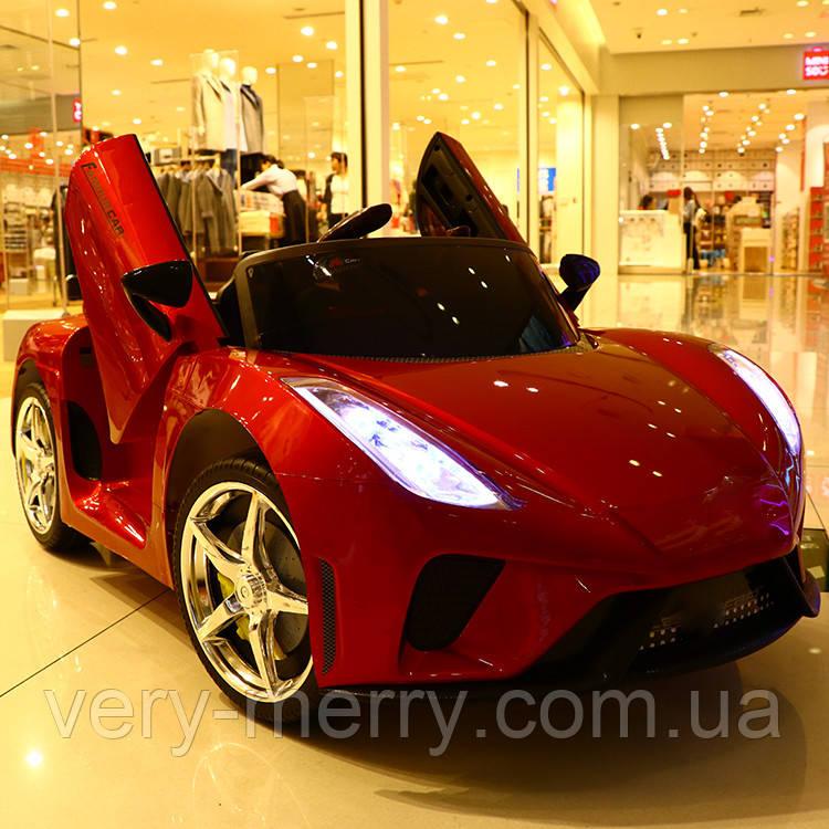 Дитячий електромобіль Lamborghini (червоний колір) з пультом дистанційного управління