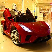 Детский электромобиль Lamborghini (красный цвет) с пультом дистанционного управления