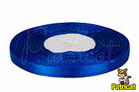 Лента атласная синяя 0,6 см длина 33 м бобина