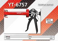 Пистолет скелетный для герметика 200x65мм, 300ml.,  YATO  YT-6757, фото 1