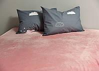 Плед покрывало на кровать флис Pink Gtf