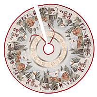 """Спідниця декоративна під ялинку """"Різдво в Карпатах"""" (D=90 см)"""