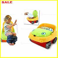 Детский музыкальный горшок машинка Irak Plastik, детский горшок унитаз, горшок в форме машины с резервуаром