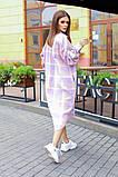 Теплая длинная женская рубашка в клетку из шерсти 44-0255, фото 7