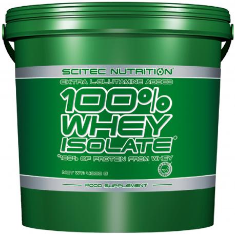 Изолят сывороточного протеина Scitec Nutrition 100% Whey Isolate 4 kg