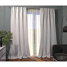 Штора велюр бело-молочный 140/270 см, Готовая велюровая штора, готовые шторы бархат 1 шт