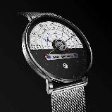Годинники наручні DOM M-1288 кварцові - Чорний, фото 3