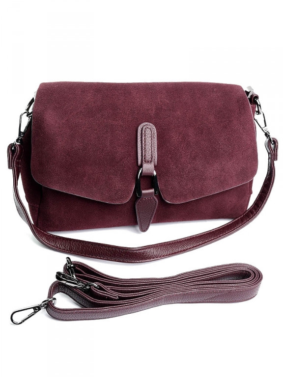 Жіноча сумка 79389 бордовая