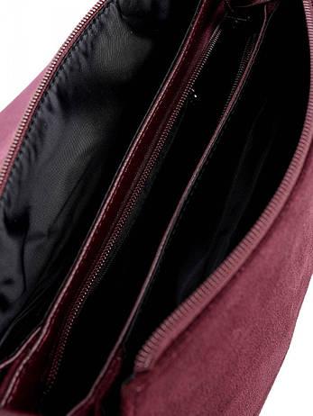 Жіноча сумка 79389 бордовая, фото 2