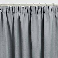 Штора жаккард РОМБ/ серый 200/270 см, готовые шторы серые, Декорация окон шторами