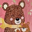 Плед дитячий Ведмедики обнімашки мікрофібра полірований розмір 100*140, фото 3